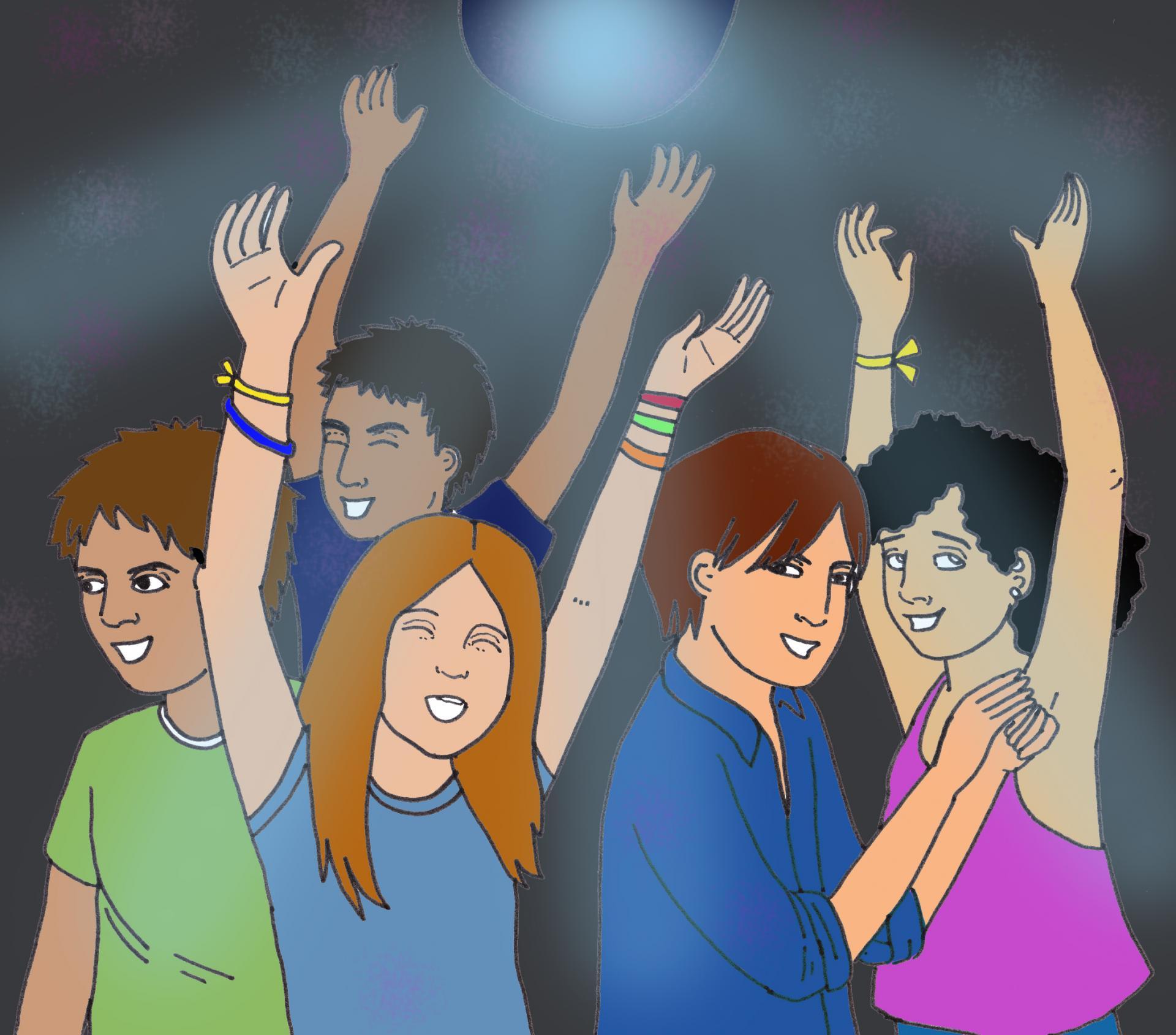 illustration Dance Party